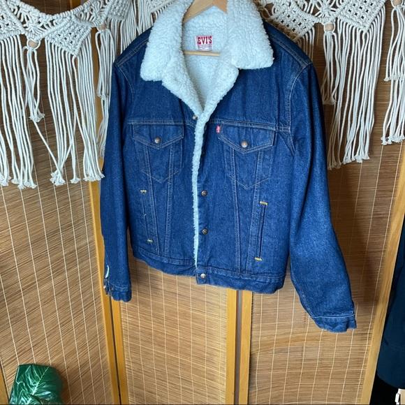 Levi's Vintage Denim Sherpa 80s Size 44L